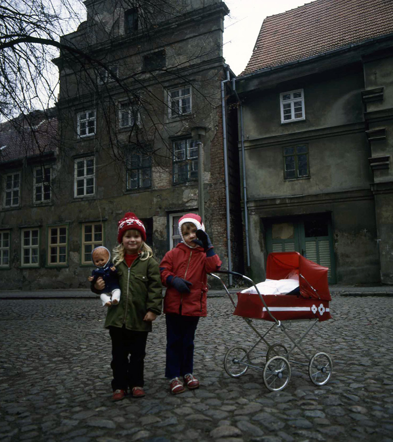 Kinder in Güstrow 1984