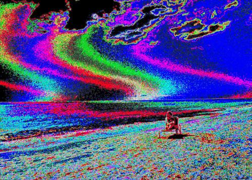 Verdunstung durch Sonneneinstrahlung